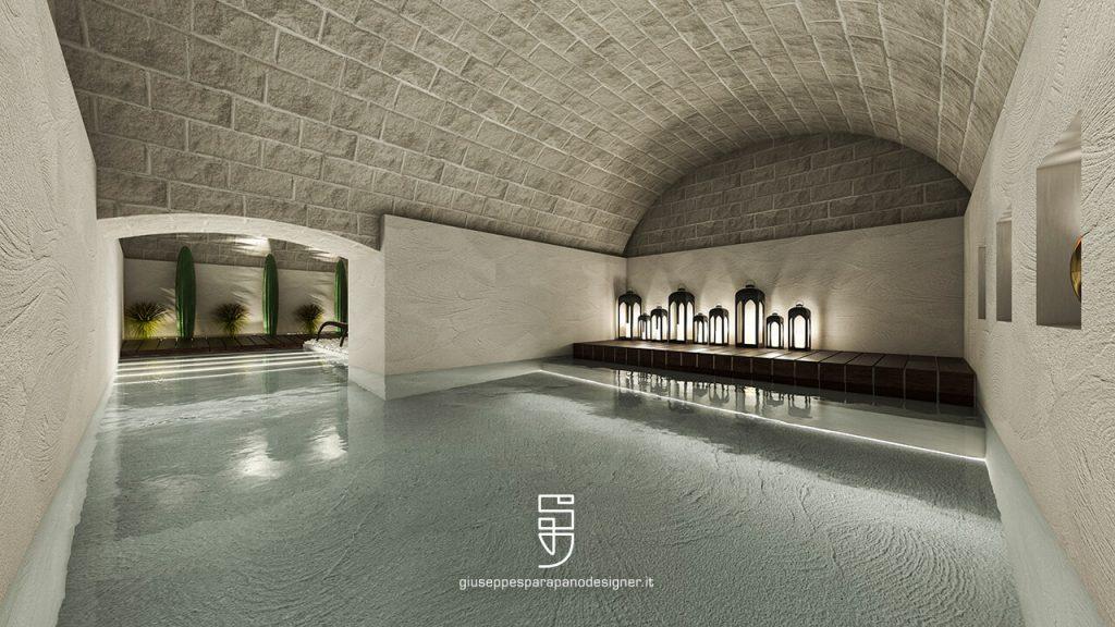 esempio di applicazione del microcemento in ambiente luxury
