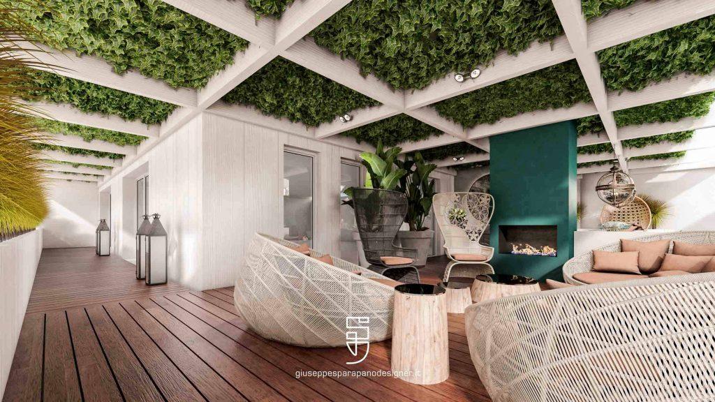 veranda con edera