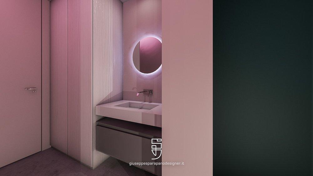 porte filomuro in bagno