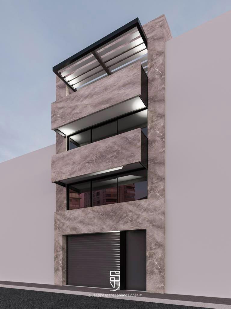 facciata abitazione in kerlite
